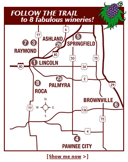 Southeast Winery Trail Map